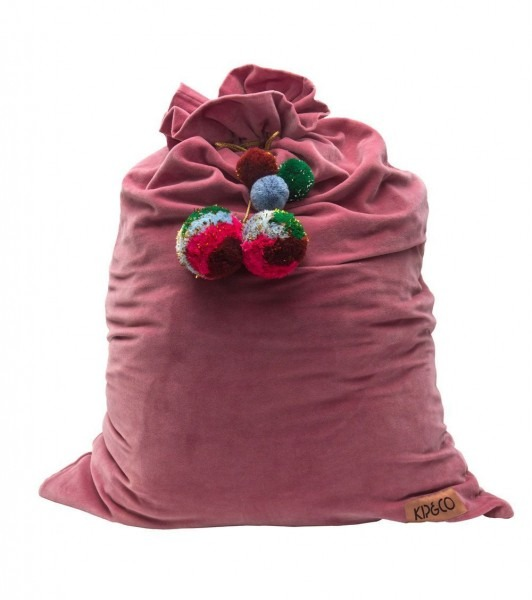 Kip&co Dark Rose Velvet Santa Sack
