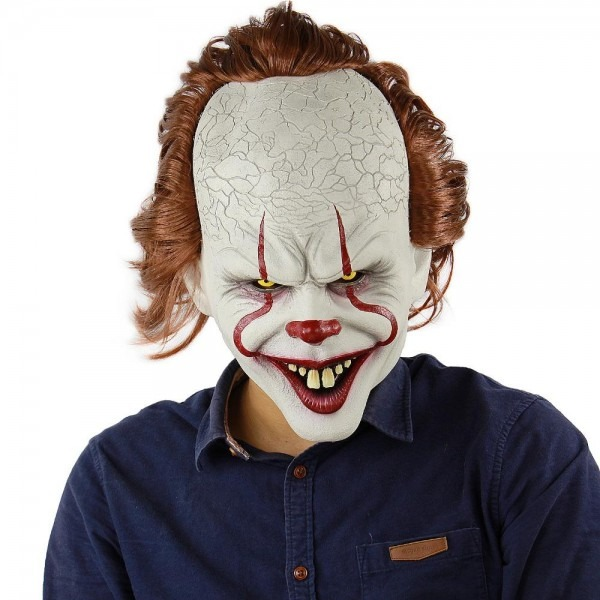 Stephen King's It Pennywise Mask Halloween Mask Scary Clown Full