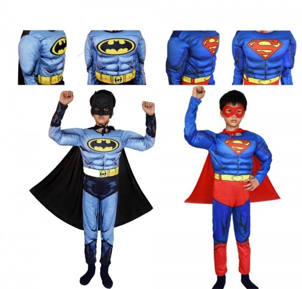 2018 Superman Batman Movie Classic Muscle Child Halloween Costume