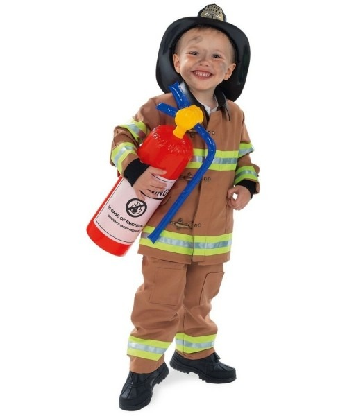 Tan Firefighter Halloween Costume
