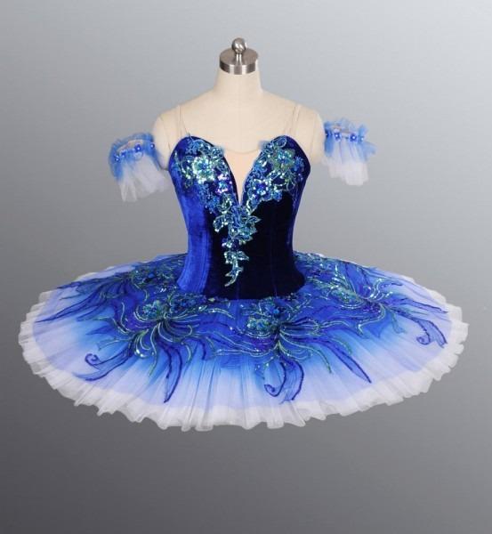 Hot Sale!!adult Ballet Tutu, Ballet Stage Costumes For Girls, Blue