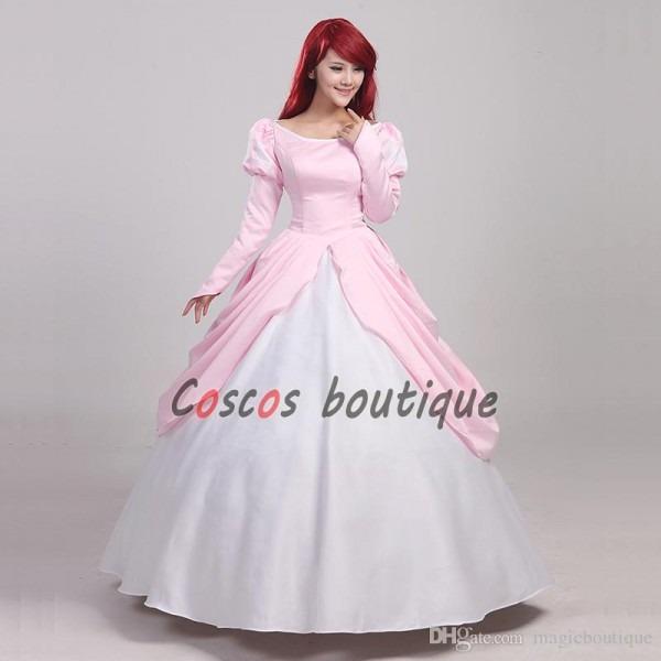The Little Mermaid Princess Ariel Dress Pink Adult Girl Dancing