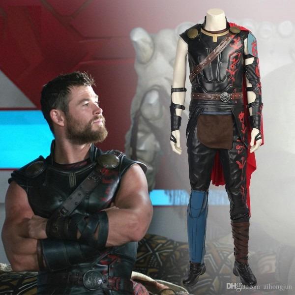 Thor Ragnarok Cloak Cosplay Adult Thor Odinson Costume Movie