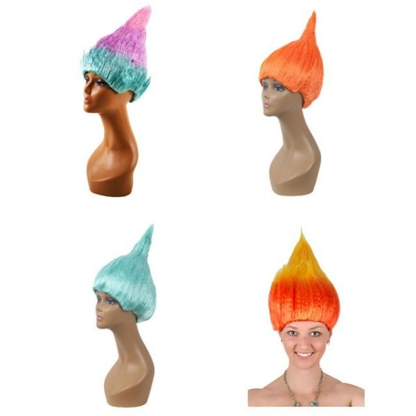 Trolls Poppy Wig For Kids Wig Children Cosplay Party Supplies
