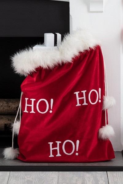 Velvet Santa Sack Online