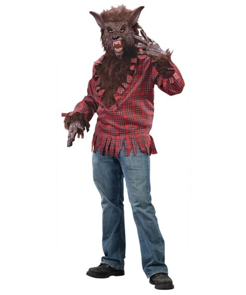 Werewolf Shirt Adult Costume