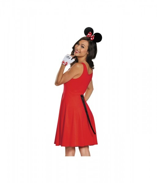 Minnie Mouse Gloves Ears And Tail Women Set