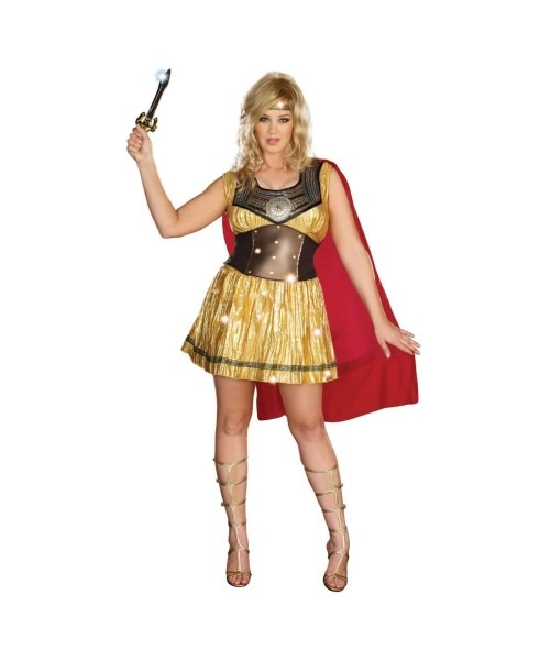 Golden Warrior Plus Size Costume