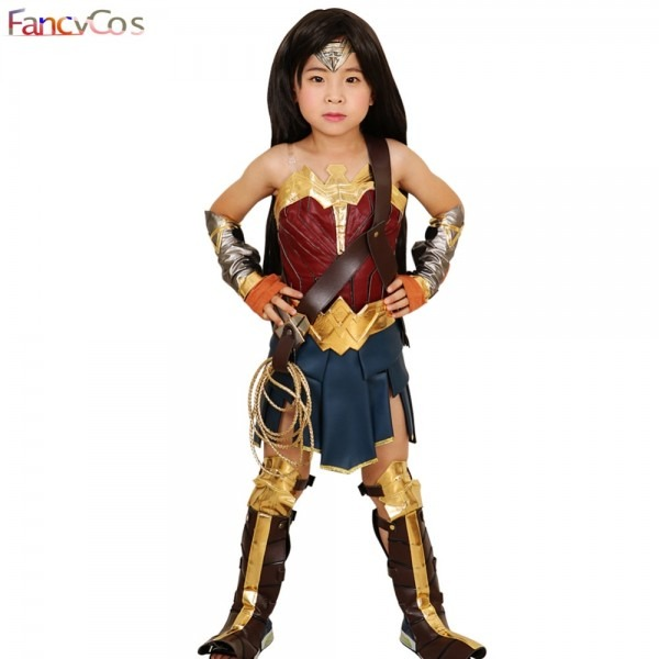 Wonder Woman For Girl Costume Halloween Justice League Princess