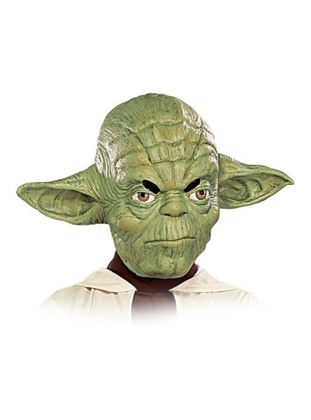 Yoda Vinyl 3 4 Mask (for Child)  Fast Delivery
