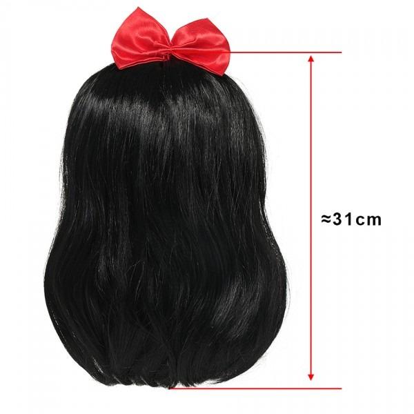 Yofeel Girls Snow White Wig Children's Headwear Falsa Hair Gift