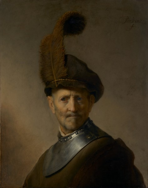 An Old Man In Military Costume (getty Museum)