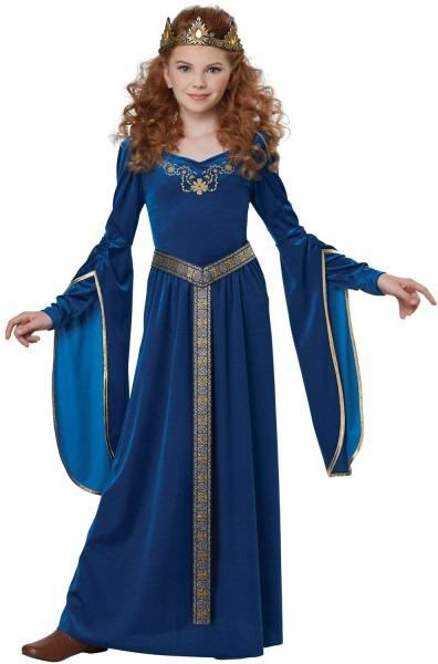 Sapphire Medieval Princess Child Costume