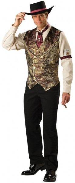 Gamblin Man Adult Western Costume Saloon Costumes