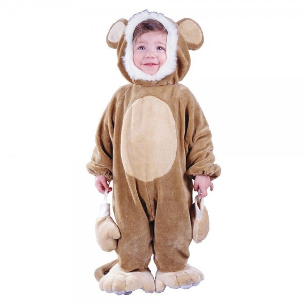 Cuddly Monkey Halloween Costume For Toddler