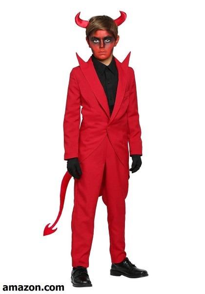 Child Red Suit Devil Costume