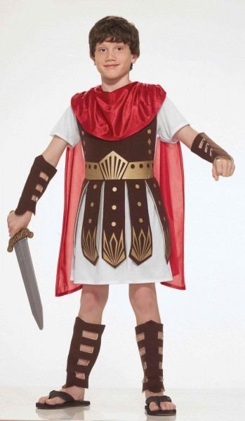 Boys Roman Gladiator Costume Greek Warrior God Tunic Armor Child