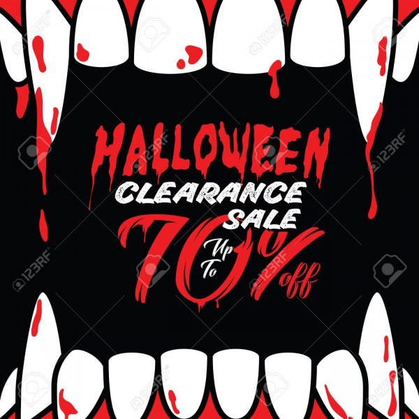 Halloween Clearance Sale Vol 3 70 Percent Heading Design For