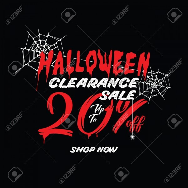 Halloween Clearance Sale Vol 1 20 Percent Heading Design For