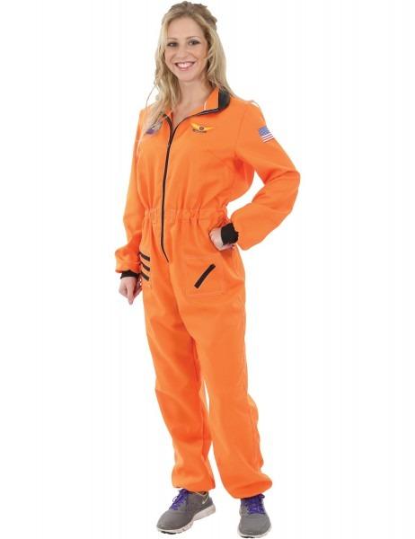 Toynk  Women's Orange Astronaut Costume
