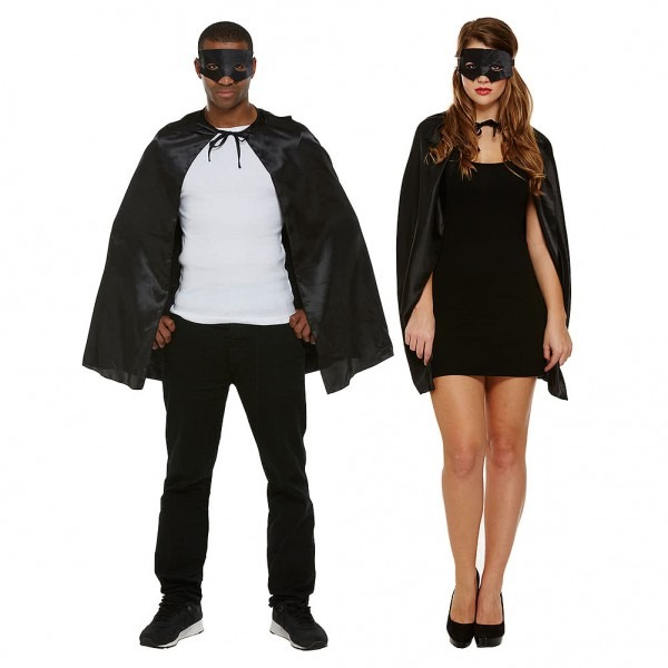 Superhero Black Fancy Dress Costume, Unisex Fancy Dress Costumes