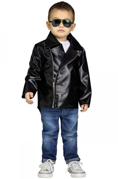 Ck1090 Boys Child Rock N Roll Faux Leather Jacket 50s Costume