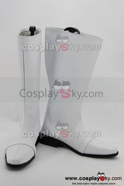 Power Ranger Cosplay Shoes Boots Custom Made White