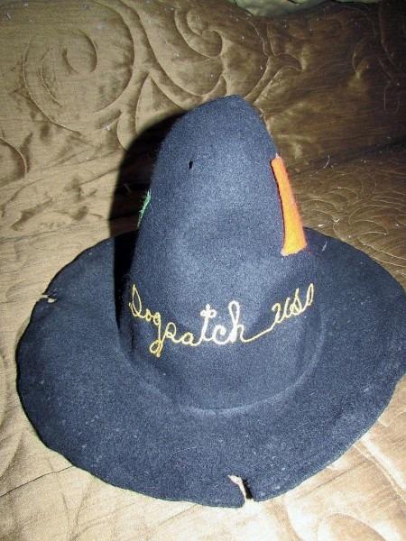 Lit'l Abner Dogpatch Usa Black Felt Hillbilly Hat With Admission