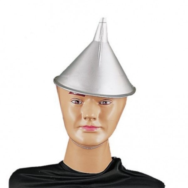 Wizard Of Oz Tin Man Funnel Hat Costume (silver), Size One Size