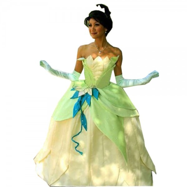 2018 Fancy Dress Adult Women The Princess And The Frog Tiana