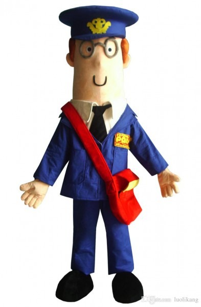 2018 Hot Postman Pat Mascot Costume For Adult Size Halloween Party