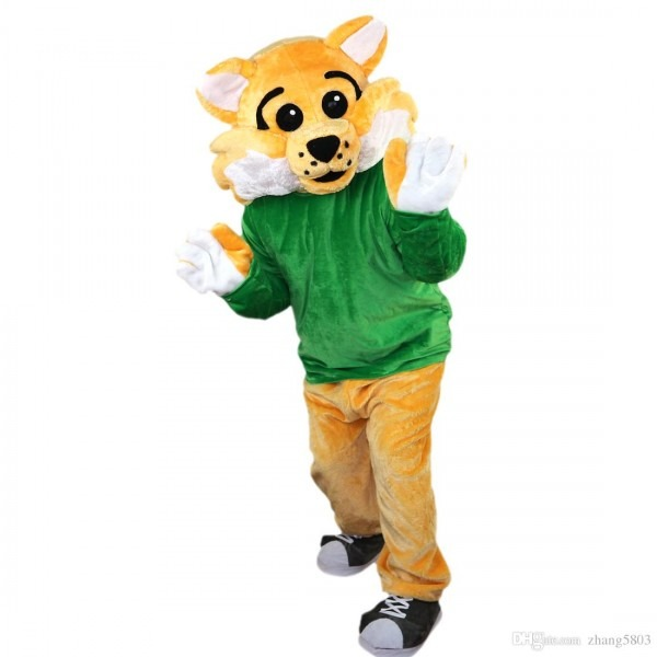 2018 New High Quality Sports Wild Cat Mascot Costumes For Adults