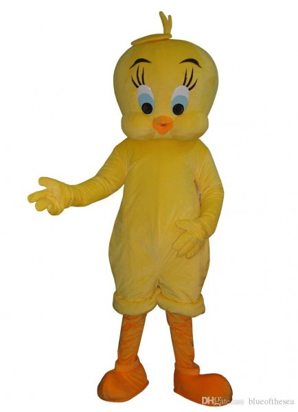 2018 Tweety Looney Tunes Mascot Costume Cartoon Bird Fancy Dress