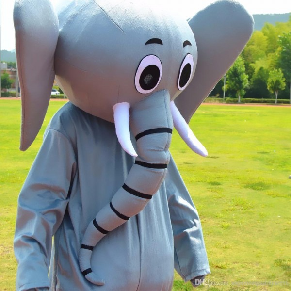 2018 Zoo Party Elephant Mascot Costumes Professional Long Nose And