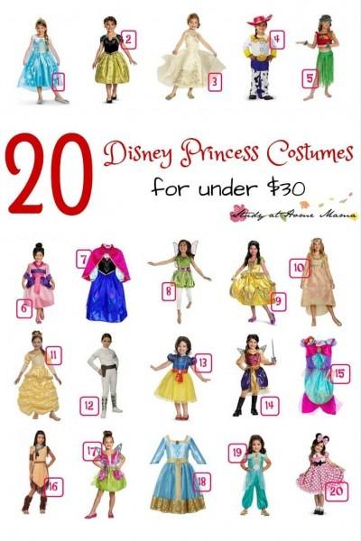 20 Disney Princess Costumes Under $30 ⋆ Sugar, Spice And Glitter