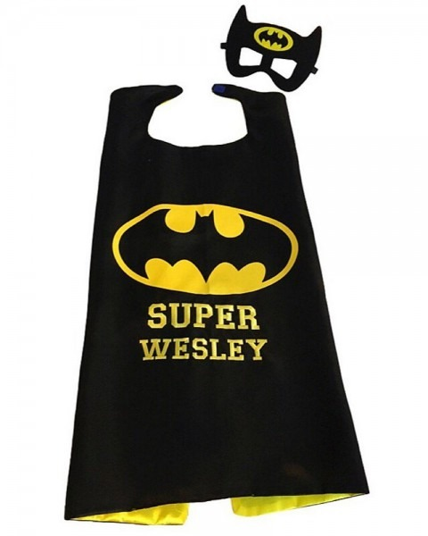 Batman Cape And Mask, Custom Superhero Capes, Kids Superhero Cape