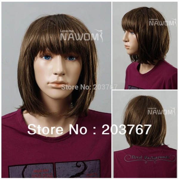 24cm Blonde Great Quality Bob Girls Wigs For Teenager's Kids And