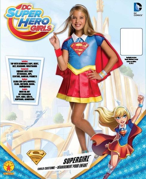 Costume Kids Dc Superhero Girls Deluxe Supergirl Costume, Medium