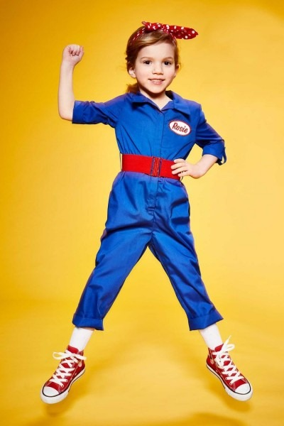 Personalized Rosie The Riveter Costume For Girls