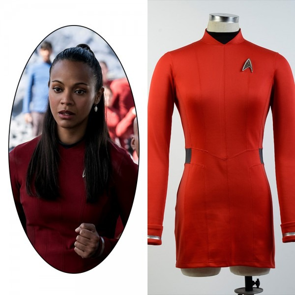 Star Trek Beyond Nyota Uhura Uniform Red Dress Cosplay Costume For