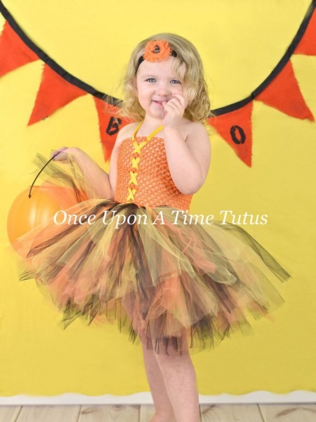 Candy Corn Witch Inspired Tutu Dress