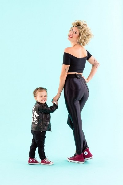 Love This Sandy + Danny From Grease Diy Mom + Toddler Halloween