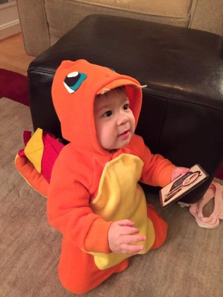 Charmander Baby Costume Made By Grandma  Alex Seems Having Fun