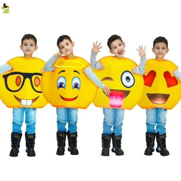 New Arrivals Funny Emoji Costumes Kids Children Fancy Mascot