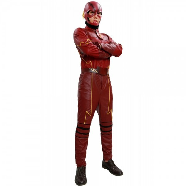 Xcoser The Flash Costume Deluxe Superhero Tv Flash Cosplay
