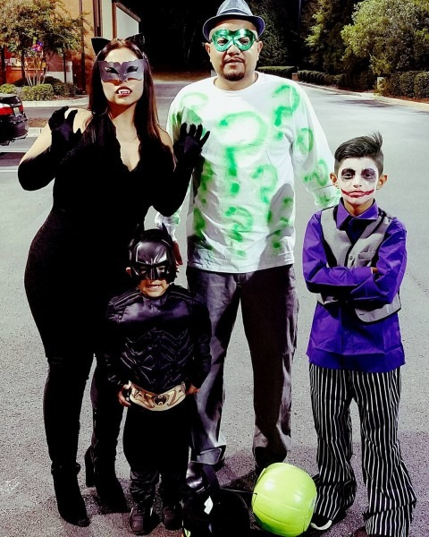 Batman Family Costume Catwoman Riddler And Joker Halloween Family