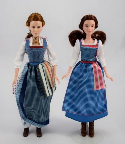 Disney Store Vs Hasbro Village Dress Belle Dolls