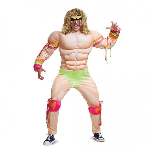 Disguise Men's Ultimate Warrior Muscle Adult Costume Xxl (50