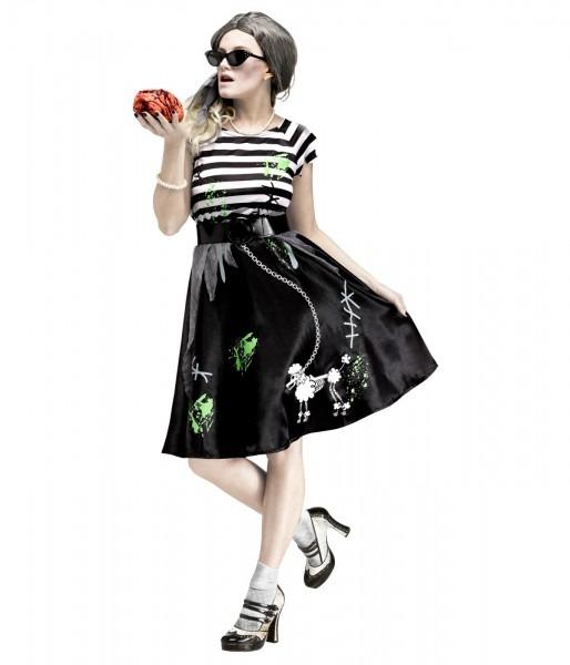 50s Zombie Womens 1950 Sock Hop Poodle Skirt Halloween Costume