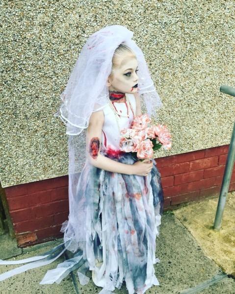 Miley Kids Zombie Bride Halloween Costume …